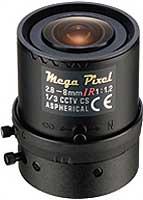 CCTVレンズ TAMRON M13VM288IR バリフォーカルレンズ 焦点距離2.8-8mm 絞り手動 3メガ・IR CSマウント
