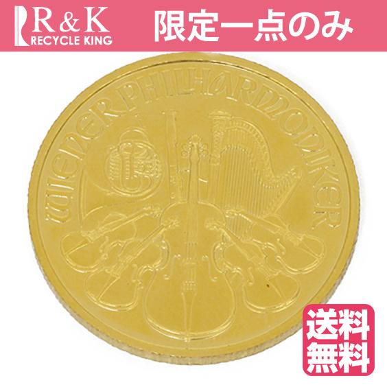 【送料無料】【中古】K24 ウィーン ハーモニー コイン 1/4オンス オーストリア 2016年 純金 24金 金貨