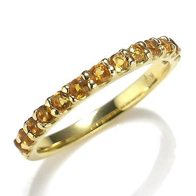 【送料無料】【新品】K10YG シトリンエタニティリング 指輪 10金 おしゃれ レディース 女性 かわいい 可愛い オシャレ