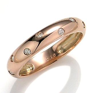 【送料無料】【新品】K10PG ダイヤモンド ドッツ リング 指輪 10金おしゃれ レディース 女性 かわいい 可愛い オシャレ アクセサリー アクセ ダイヤ 水玉 ドット シンプル ピンクゴールド 重ねづけ ギフト プレゼント