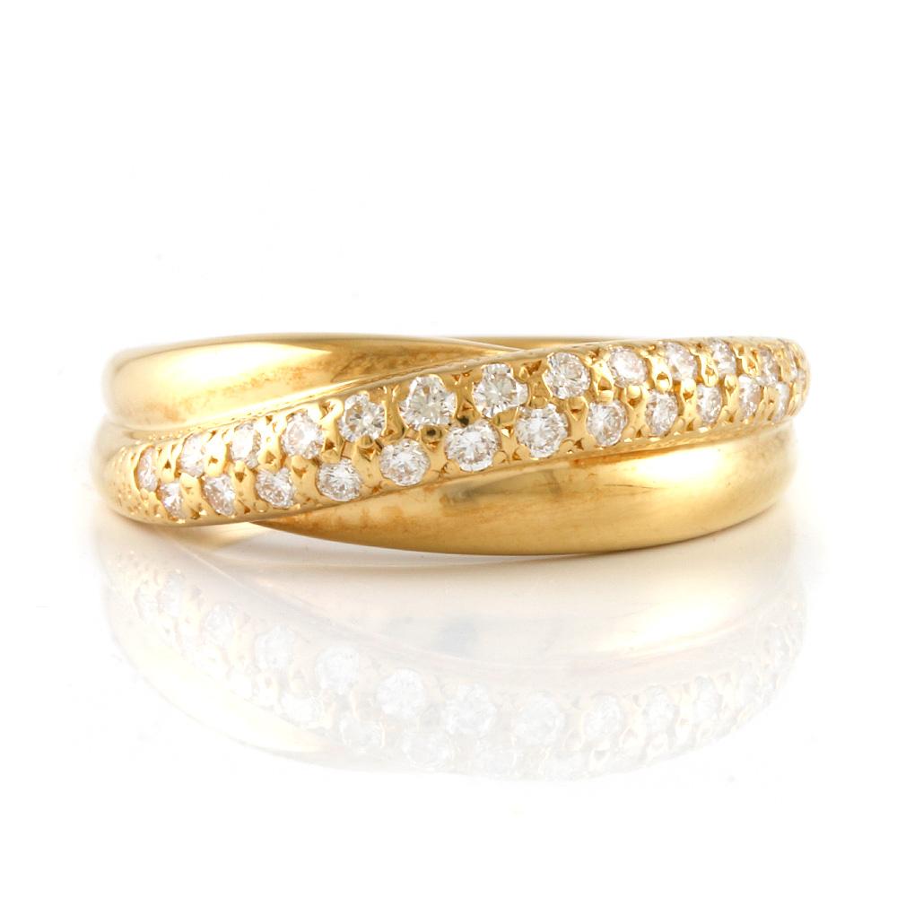 【送料無料】【中古】 MIKIMOTO ミキモト K18 リング 指輪 ダイヤモンド 0.26ct 11号 18金 K18ゴールド レディース おしゃれ かわいい ギフト プレゼント