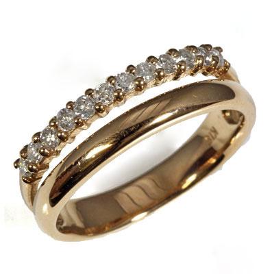 【送料無料】【中古】●K18PG ダイヤピンキーリング 指輪 D0.17 ピンクゴールド ファランジリング おしゃれ レディース 女性 かわいい 可愛い オシャレ 価格見直し0711