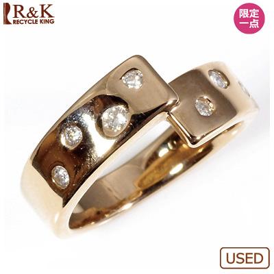 【送料無料】【中古】◎K18PG ダイヤピンキーリング 指輪 D0.12 ピンクゴールド ファランジリング おしゃれ レディース 女性 かわいい 可愛い オシャレ 価格見直し0711