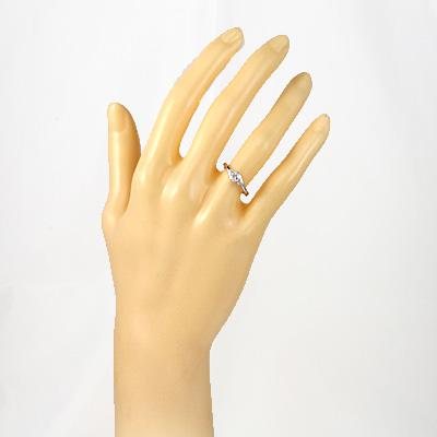 【送料無料】【中古】◎PT900 ダイヤモンドリング 指輪 D0.20/0.07 プラチナ おしゃれ レディース 女性 かわいい 可愛い オシャレ 価格見直し0711