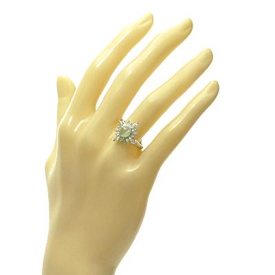 【送料無料】【中古】PT900 クリソベリル キャッツアイ ダイヤモンド リング 指輪 D0.79 C1.74 鑑別書付 プラチナレディース 女性 可愛い カワイイ かわいい おしゃれ オシャレ 価格見直し0711