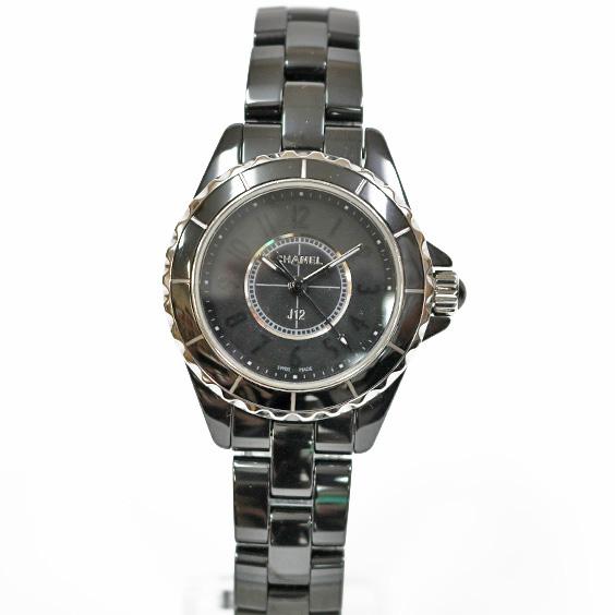 ブランド品 シャネルの 腕時計 送料無料 気質アップ 中古 CHANEL 開店記念セール シャネル セラミック J12 ドレスウォッチ ブラック ギフト メンズ SH かわいい プレゼント おしゃれ 黒 レディース