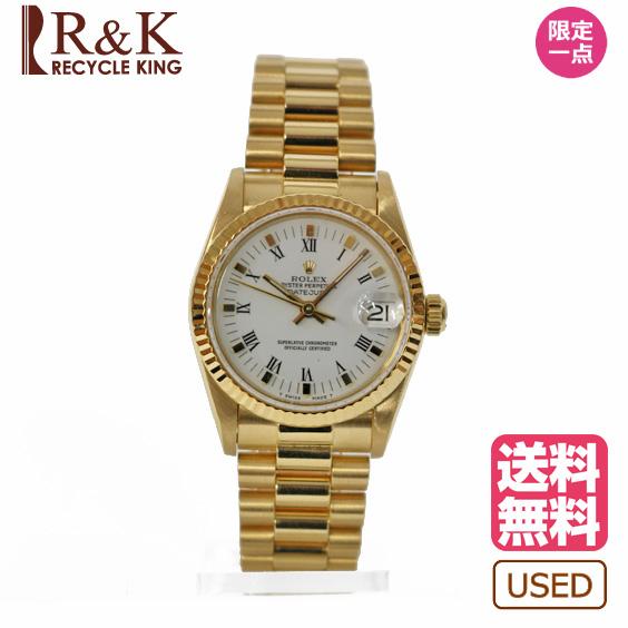 separation shoes e2594 51632 【送料無料】【中古】 ROLEX ロレックス 腕時計 ゴールド レディース メンズ おしゃれ かわいい ギフト プレゼント【SH】 R&K  リサイクルキング