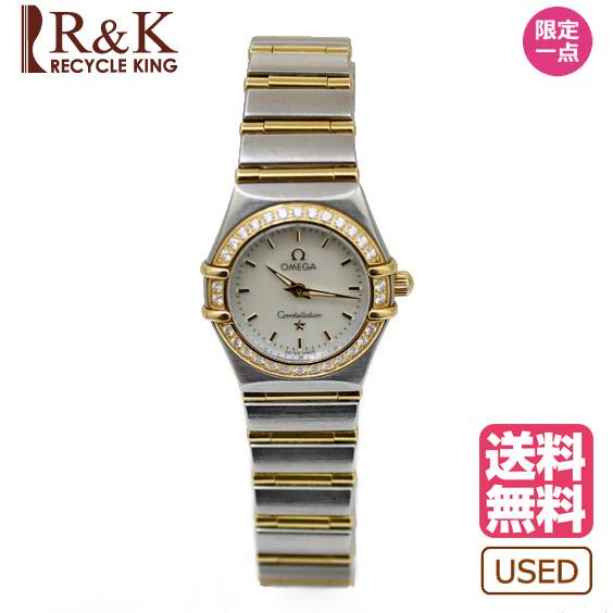 【送料無料】【中古】 OMEGA オメガ SS 腕時計 ステンレススチール K18 ゴールド ダイヤモンド コンステレーション ダイヤベゼル レディース メンズ おしゃれ かわいい ギフト プレゼント【SH】