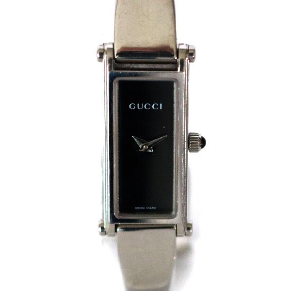 【中古】 GUCCI グッチ SS 腕時計 1500L ステンレススチール 0851873 ブラック レディース メンズ おしゃれ かわいい ギフト プレゼント