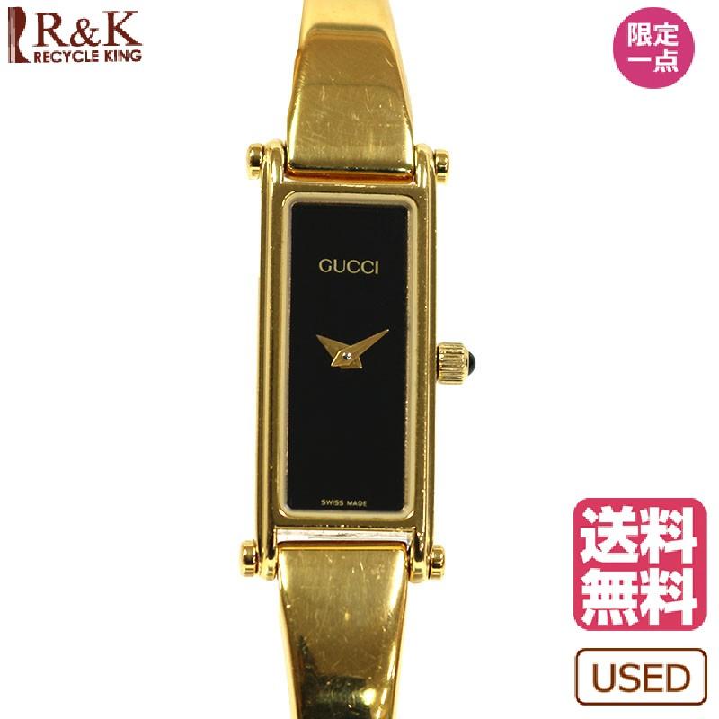 【送料無料】【中古】 GUCCI グッチ 腕時計 1500 ブラック レディース メンズ おしゃれ かわいい ギフト プレゼント【SH】