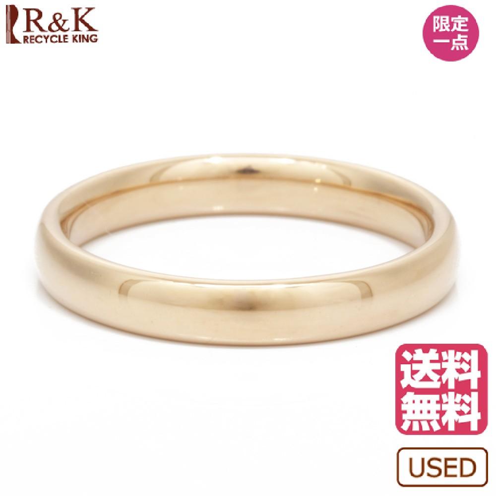 【送料無料】【中古】 K18 リング 指輪 甲丸 13号 18金 K18ゴールド レディース メンズ おしゃれ かわいい ギフト プレゼント【SH】