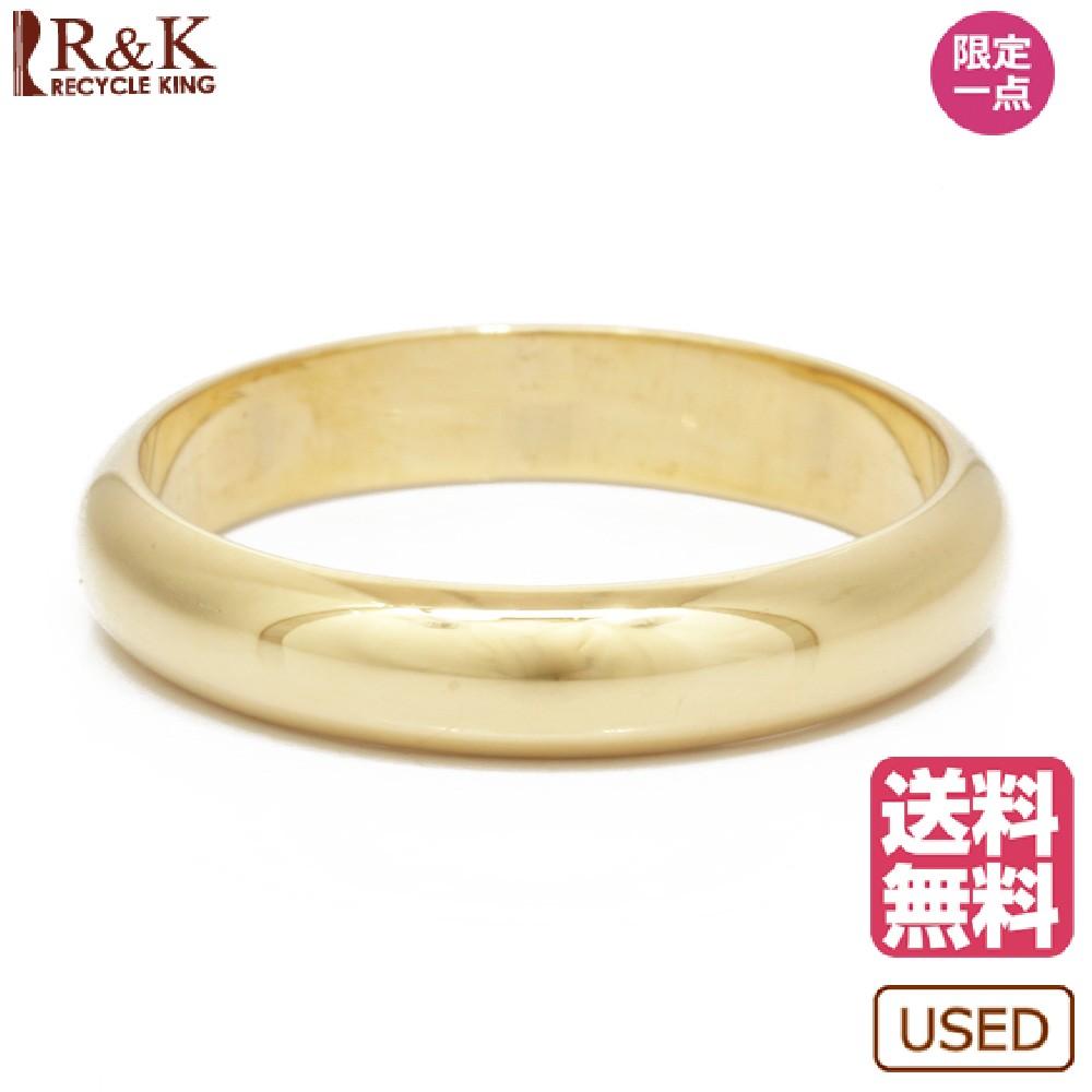 【送料無料】【中古】 K18 リング 指輪 甲丸 12号 18金 K18ゴールド レディース メンズ おしゃれ かわいい ギフト プレゼント【SH】