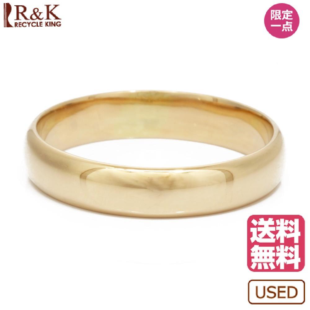 【送料無料】【中古】 K18 リング 指輪 甲丸 10.5号 18金 K18ゴールド レディース メンズ おしゃれ かわいい ギフト プレゼント【SH】