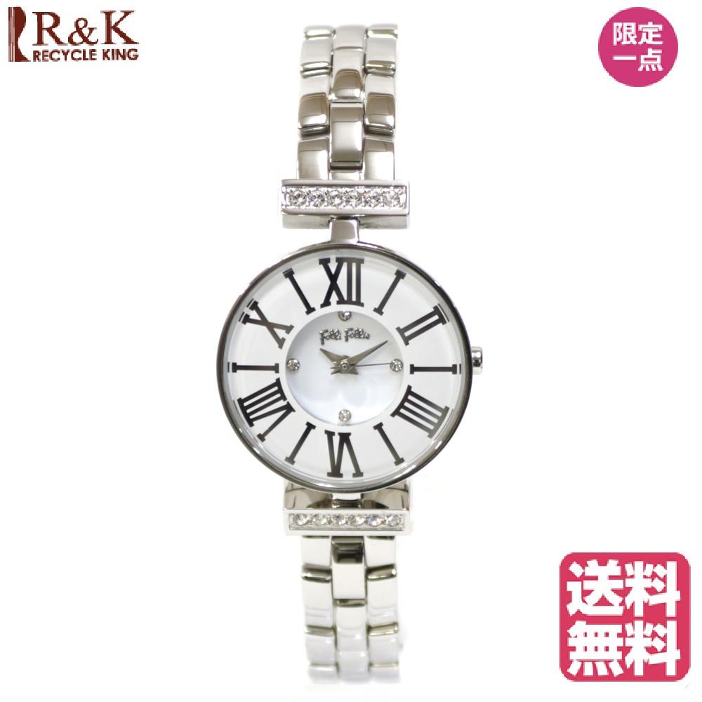 【送料無料】【新品】 Folli Follie フォリフォリ SS 腕時計 ブランド腕時計 クリスマスプレゼント 腕時計ベルト ステンレススチール WF15B028BS 白 シルバー レディース メンズ おしゃれ かわいい ギフト プレゼント【SH】