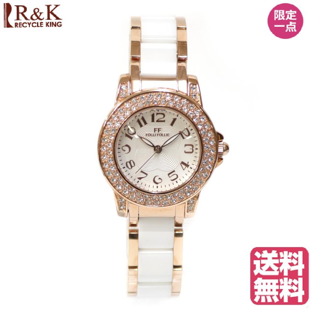 【送料無料】【新品】 Folli Follie フォリフォリ SS 腕時計 ブランド腕時計 クリスマスプレゼント 腕時計ベルト ステンレススチール WF9B020BP 白 ホワイト レディース メンズ おしゃれ かわいい ギフト プレゼント【SH】