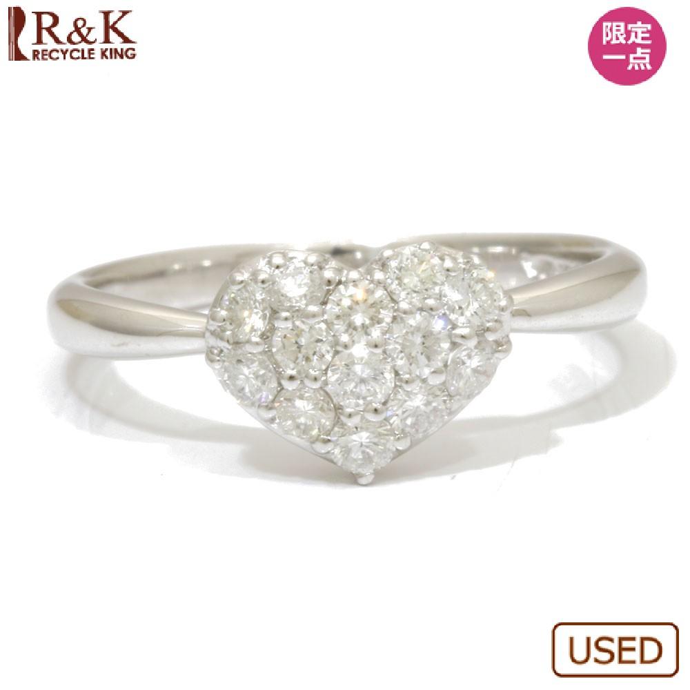 【送料無料】【中古】 VENDOME ヴァンドーム K18WG リング 指輪 11号 ダイヤモンド 0.39ct ハート 18金 K18ホワイトゴールド シルバー レディース メンズ おしゃれ かわいい ギフト プレゼント