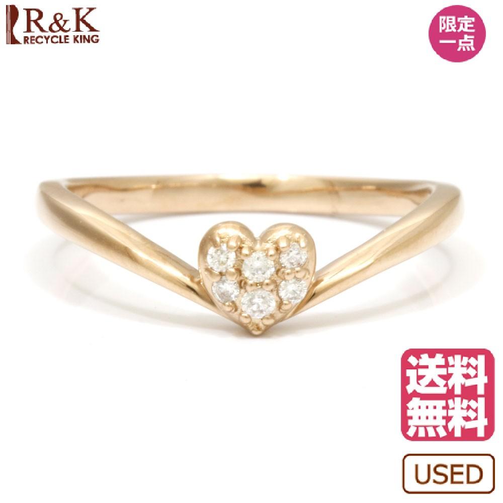 【送料無料】【中古】 Samantha Tiara サマンサティアラ K18PG リング 指輪 ダイヤモンド D0.05 ハート 9号 18金 K18ピンクゴールド レディース メンズ おしゃれ かわいい ギフト プレゼント
