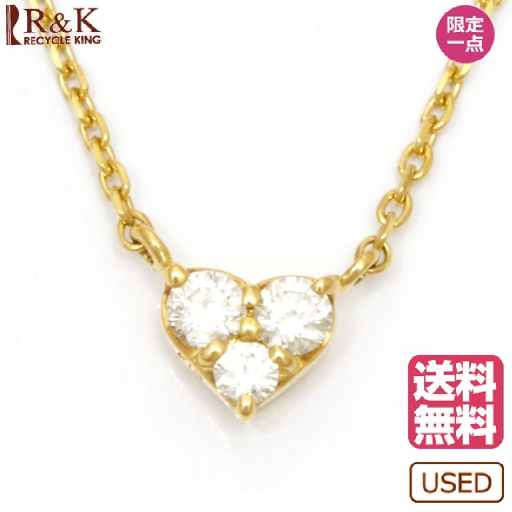 送料無料VENDOME ヴァンドーム K18 ネックレス ダイヤモンド D0 10 ハート 3ストーン 18金 K18ゴールド レディース メンズ おしゃれ かわいい ギフト プレゼントUzMqSpV