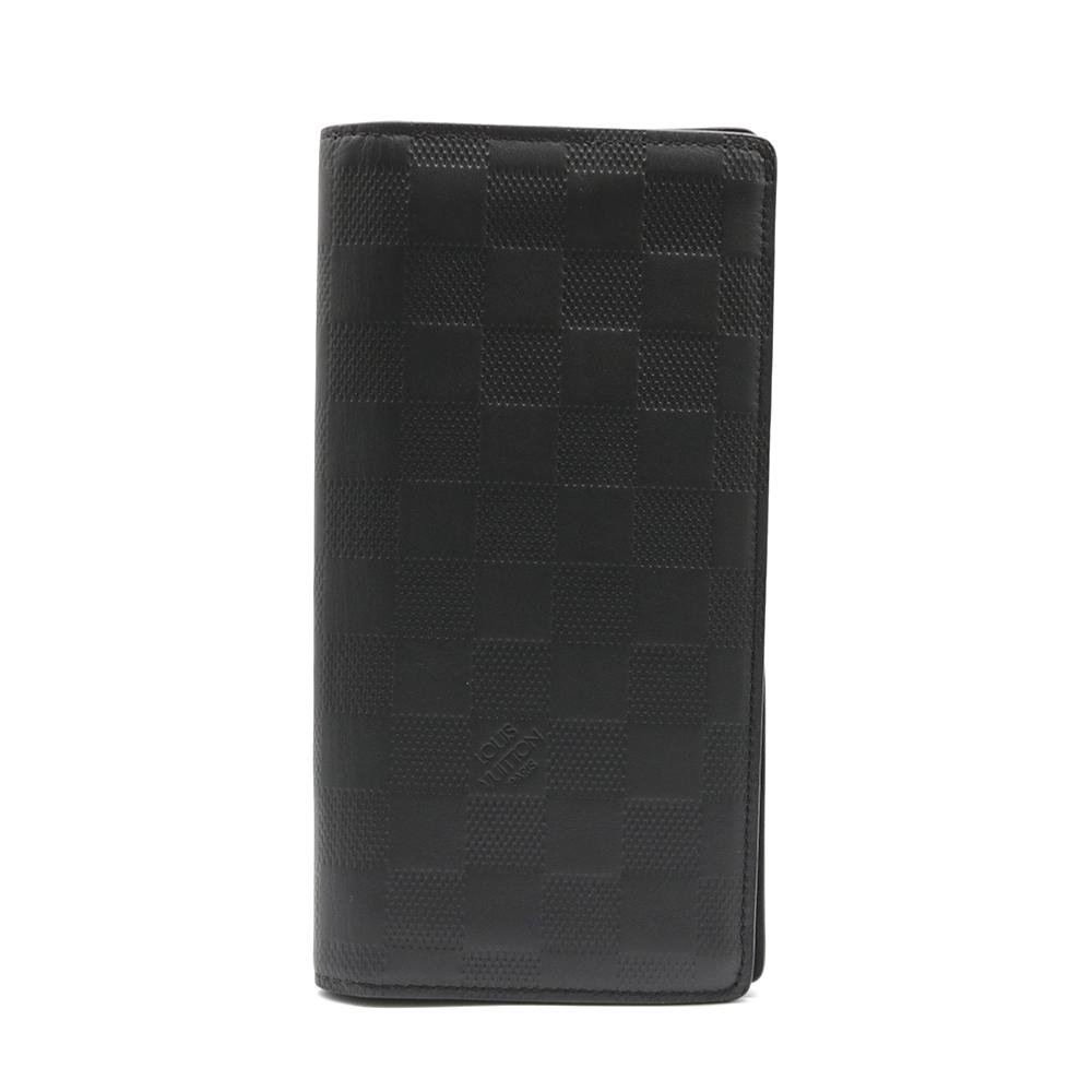 【送料無料】【中古】 LOUIS VUITTON ルイ・ヴィトン 二つ折り財布 ダミエアンフィニ ポルトフォイユプラザ レザー N63010 レディース メンズ おしゃれ かわいい ギフト プレゼント【SH】