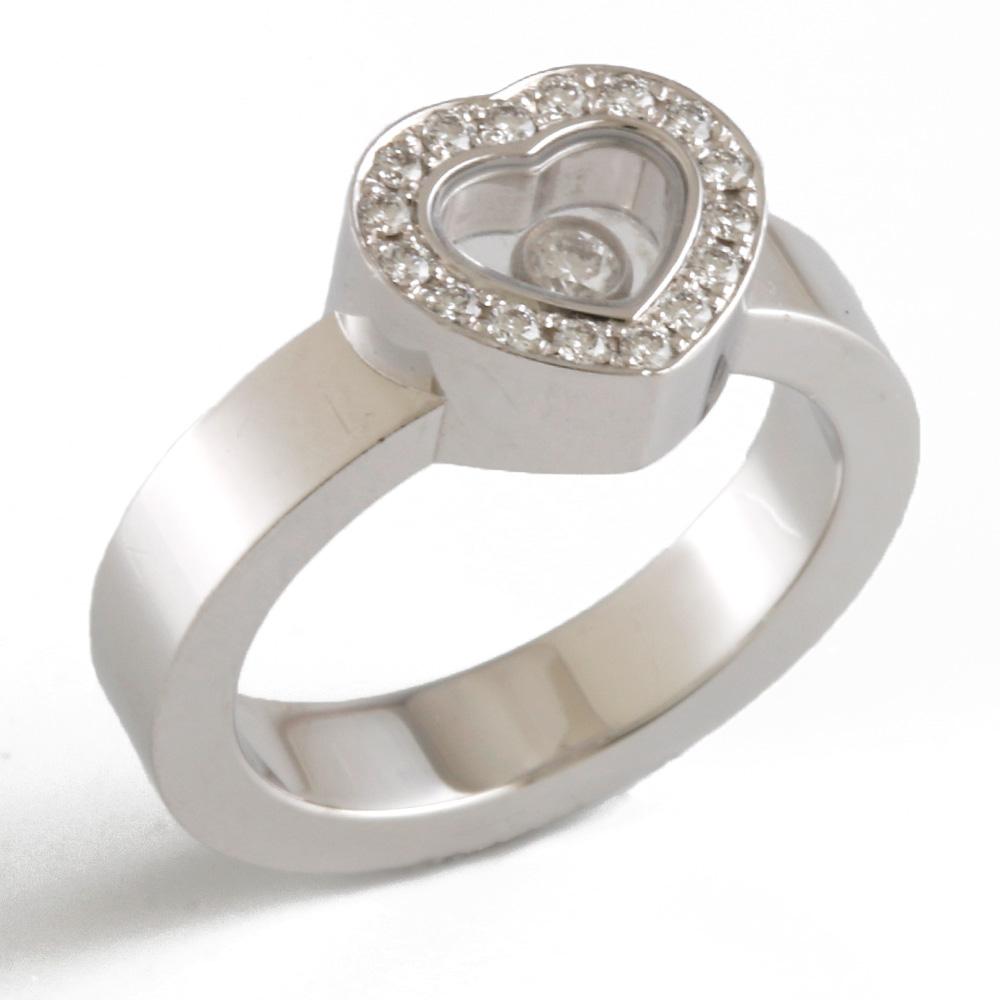 【送料無料】【中古】 Chopard ショパール K18WG リング 指輪 ハート ハッピーダイヤモンド 18金 K18ホワイトゴールド シルバー レディース おしゃれ かわいい プレゼント【SH】|k18 18k k18リング ダイヤモンド ダイヤモンドリング ダイヤ ダイヤリング ダイアモンドリング