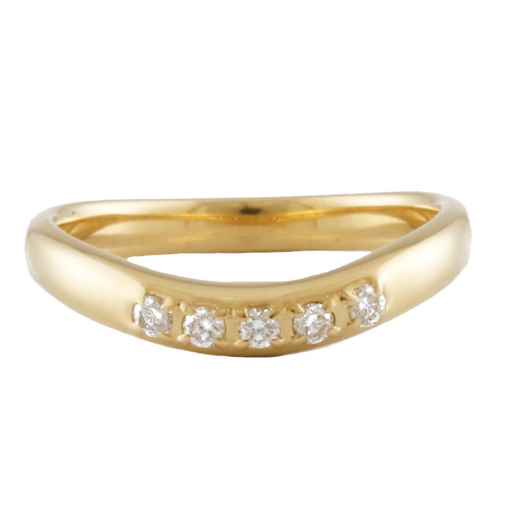 【送料無料】【中古】 TASAKI タサキ K18YG リング 指輪 ダイヤモンド 18金 K18イエローゴールド ゴールド レディース メンズ おしゃれ かわいい ギフト プレゼント【SH】