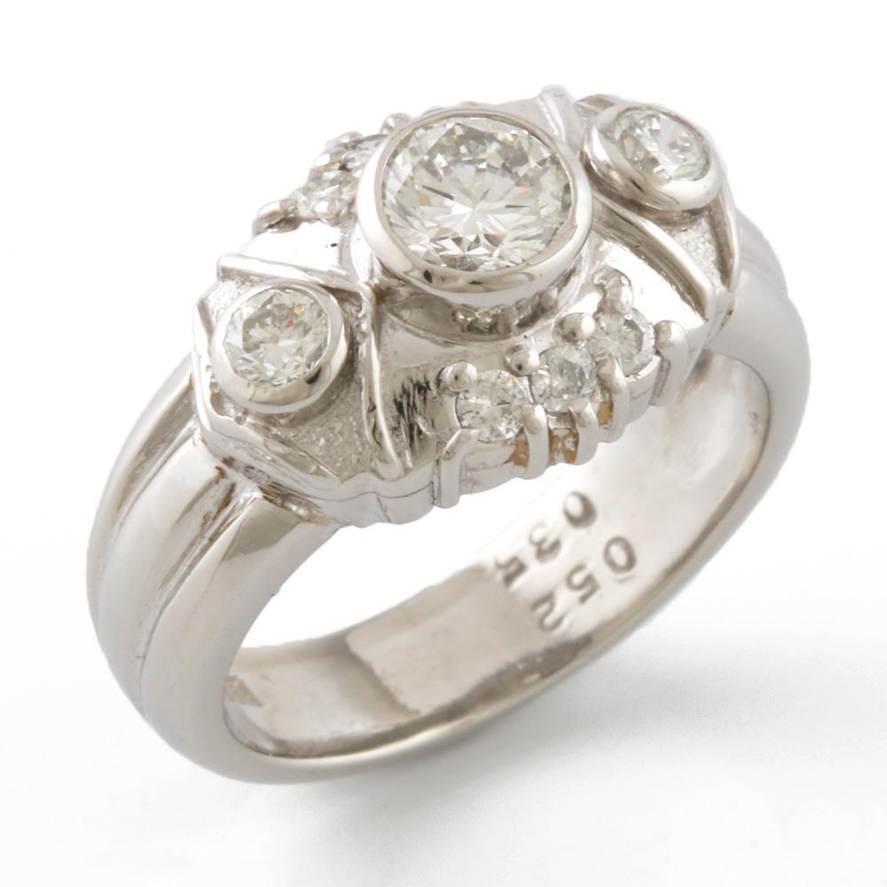 ジュエリー リング 指輪 海外並行輸入正規品 送料無料 中古 Pt900 11号 ダイヤモンド 0.52CT 年間定番 かわいい ギフト Pt900プラチナ 0.35CT おしゃれ レディース メンズ プレゼント SH