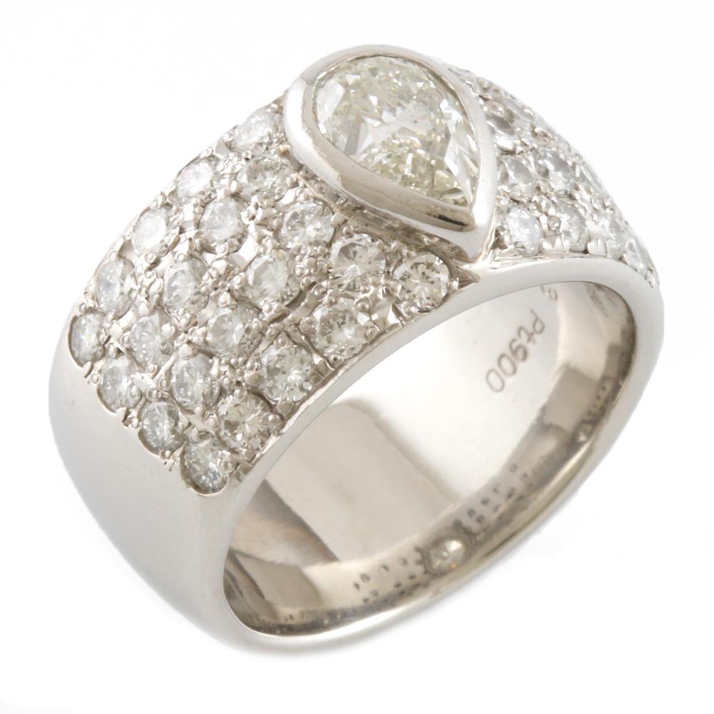 【送料無料】【中古】 Pt900 リング 指輪11.5号 パヴェ ダイヤモンド 2.544CT Pt900プラチナ レディース メンズ おしゃれ かわいい ギフト プレゼント【SH】