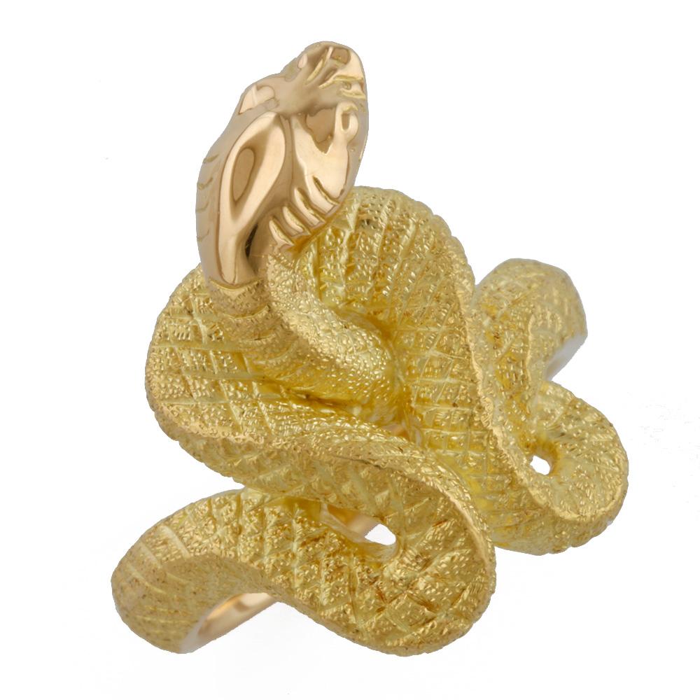 【送料無料】【中古】 K18 リング 指輪 蛇 ヘビ 開運 金運 13.5号 18金 K18ゴールド レディース おしゃれ かわいい ギフト プレゼント