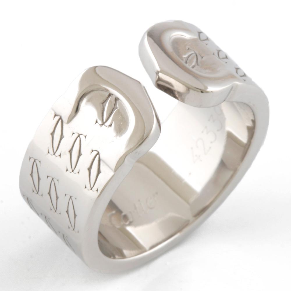 【送料無料】【中古】 CARTIER カルティエ K18WG リング 指輪 C2 ハッピーバースデー #48 8号 18金 K18ホワイトゴールド レディース メンズ おしゃれ かわいい ギフト プレゼント