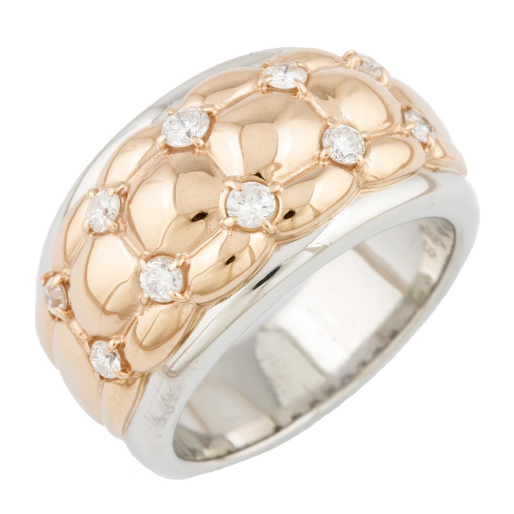 【送料無料】【中古】 Pt900 K18PG リング 指輪 ダイヤモンド D0.38 2カラー 12号 Pt900プラチナ ピンクゴールド レディース メンズ おしゃれ かわいい ギフト プレゼント