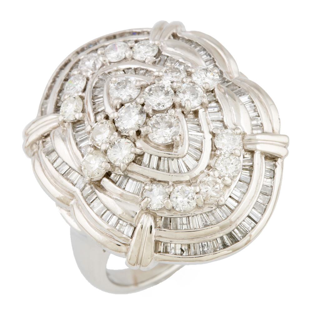 【送料無料】【中古】 Pt900 リング 指輪 ダイヤモンド D3.00 大振り ゴージャス D3.00 19号 Pt900プラチナ レディース メンズ おしゃれ かわいい ギフト プレゼント