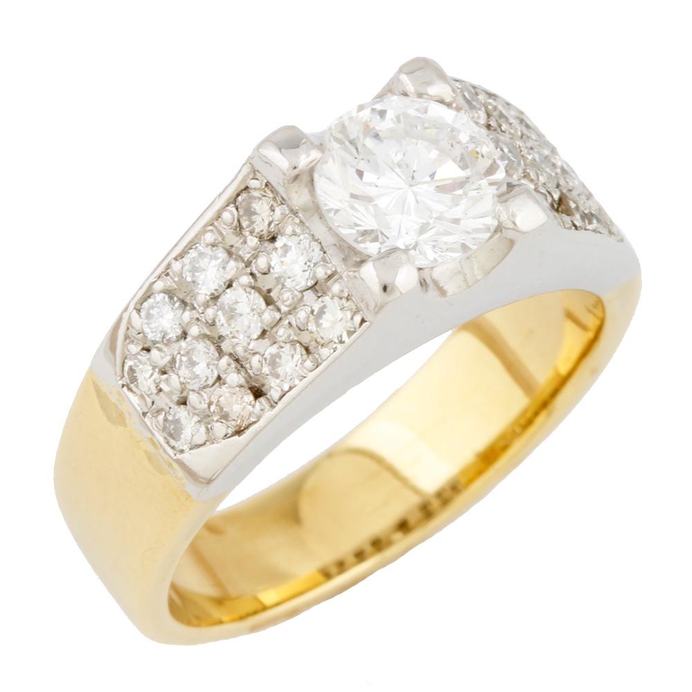 【送料無料】【中古】 Pt900 K18 リング 指輪 ダイヤモンド D1.38 2カラー 13号 Pt900プラチナ ゴールド レディース メンズ おしゃれ かわいい ギフト プレゼント