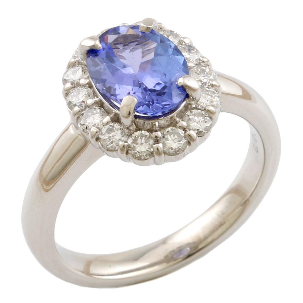 【送料無料】【中古】 Pt900 リング 指輪 12号 タンザナイト 1.43ct ダイヤモンド 0.52ct Pt900プラチナ レディース メンズ おしゃれ かわいい ギフト プレゼント