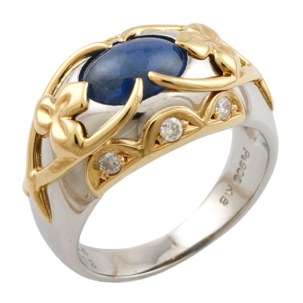 【送料無料】【中古】 Pt900 リング 指輪 12.5号 サファイア 3.34ct ダイヤモンド 0.13ct Pt900プラチナ レディース メンズ おしゃれ かわいい ギフト プレゼント