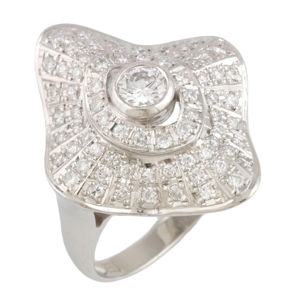 【送料無料】【中古】 Pt900 リング 指輪 14号 ダイヤモンド 1.00ct Pt900プラチナ レディース メンズ おしゃれ かわいい ギフト プレゼント