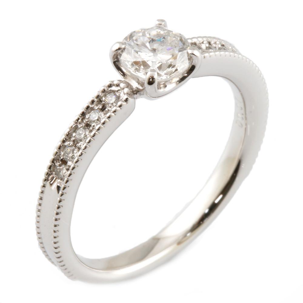 【送料無料】【中古】 Pt900 リング 指輪 ダイヤモンド 10号 Pt900プラチナ レディース メンズ おしゃれ かわいい ギフト プレゼント