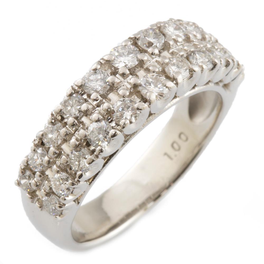 【送料無料】【中古】 Pt900 リング 指輪 パヴェ ダイヤモンド ゴージャス 11号 Pt900プラチナ レディース メンズ おしゃれ かわいい ギフト プレゼント