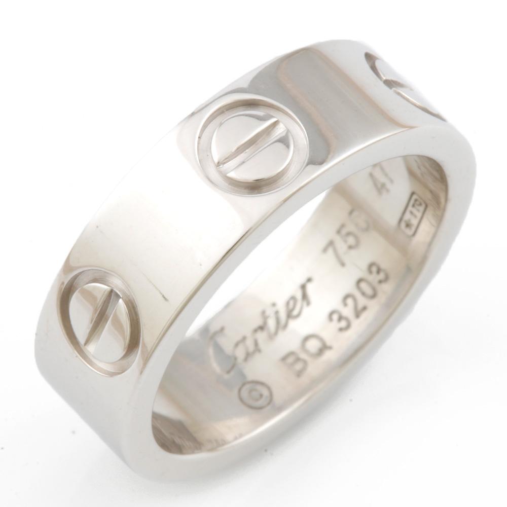 【送料無料】【中古】 CARTIER カルティエ K18WG リング 指輪 ラブ #47 7号 18金 K18ホワイトゴールド レディース メンズ おしゃれ かわいい ギフト プレゼント