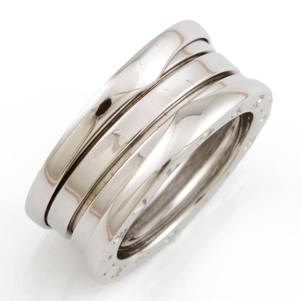 【送料無料】【中古】 BVLGARI ブルガリ K18WG リング 指輪 B-zero.1 ビーゼロワン #48 7号 18金 K18ホワイトゴールド レディース メンズ おしゃれ かわいい ギフト プレゼント