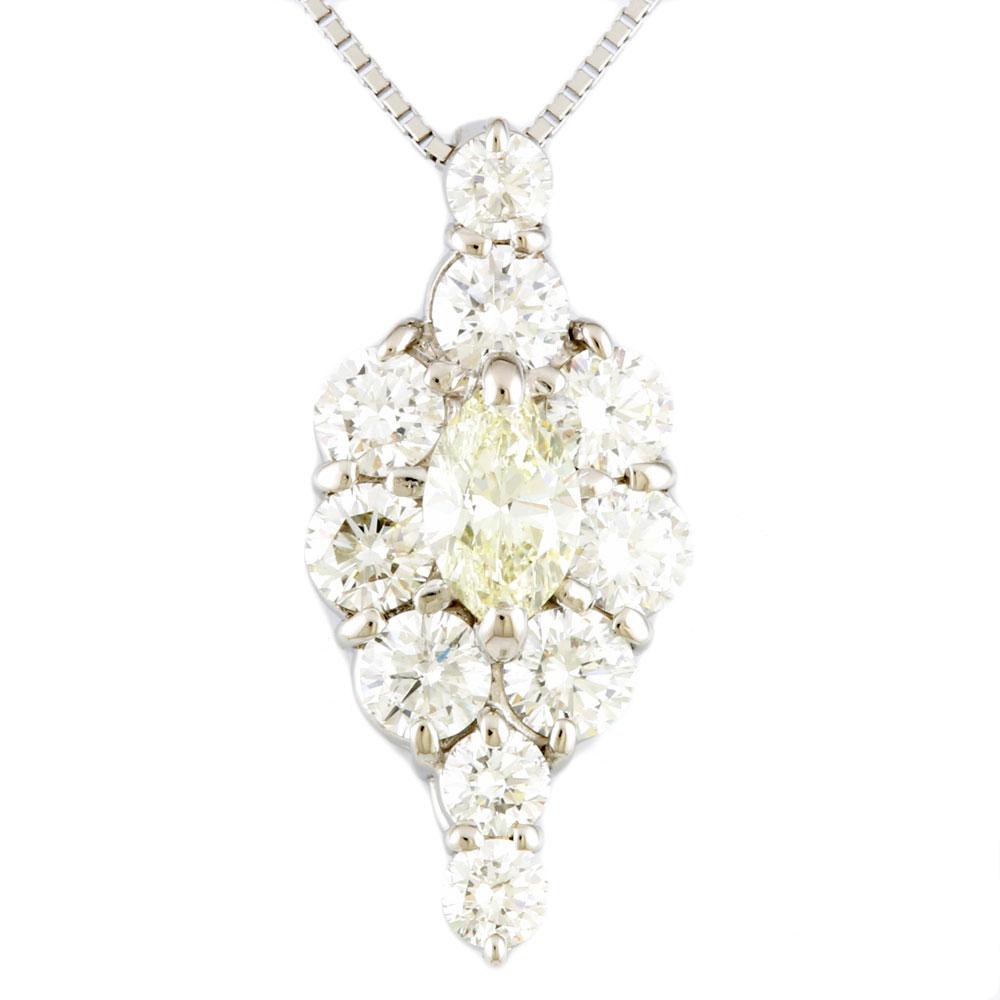 【送料無料】【中古】 Pt900 ネックレス ダイヤモンド 1.82ct Pt900プラチナ レディース メンズ おしゃれ かわいい ギフト プレゼント