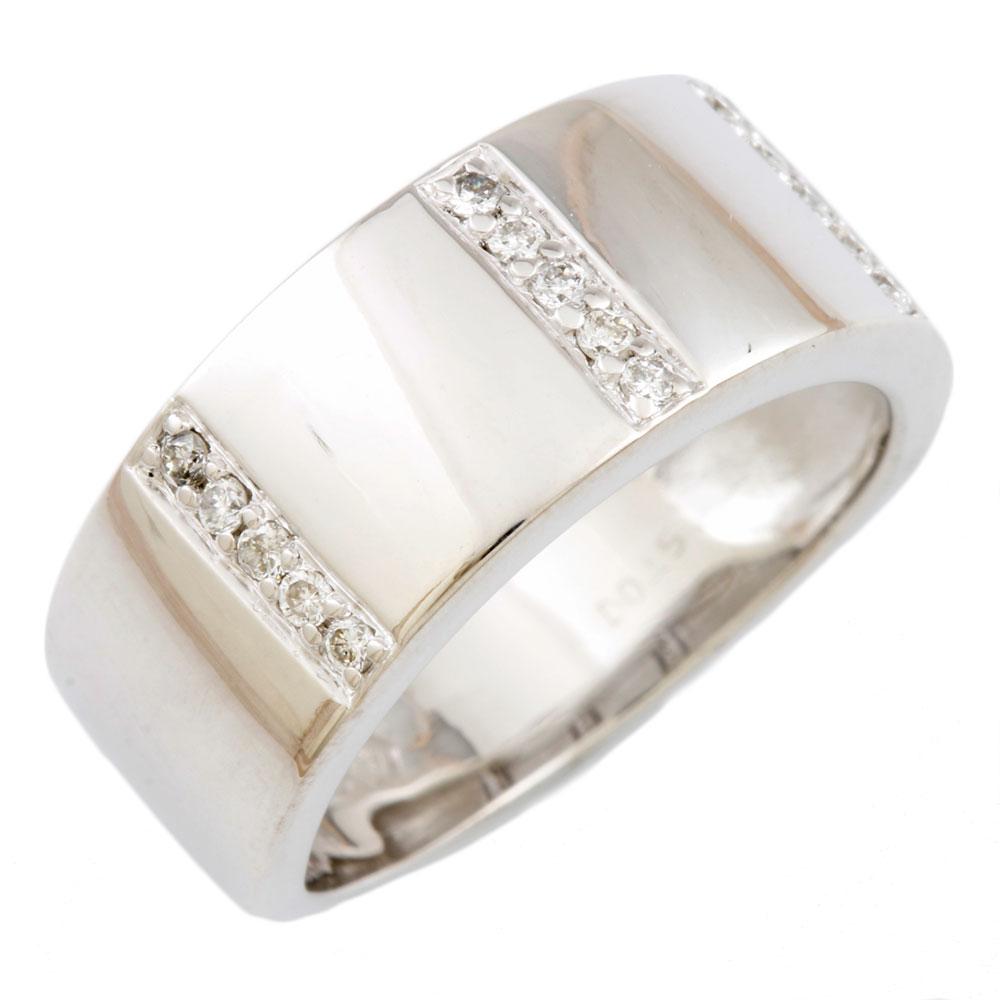 【送料無料】【中古】 VENDOME ヴァンドーム K18WG リング 指輪 11号 ダイヤモンド 0.15ct 18金 K18ホワイトゴールド レディース メンズ おしゃれ かわいい ギフト プレゼント