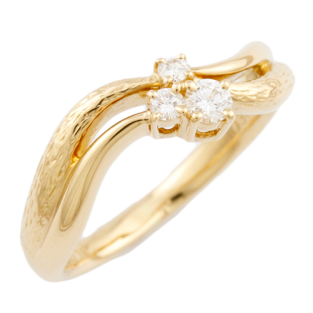 【送料無料】【中古】 POLA ポーラ K18 リング 指輪 15号 ダイヤモンド 0.18ct レディース おしゃれ かわいい おすすめ ギフト プレゼント 18金 K18ゴールド