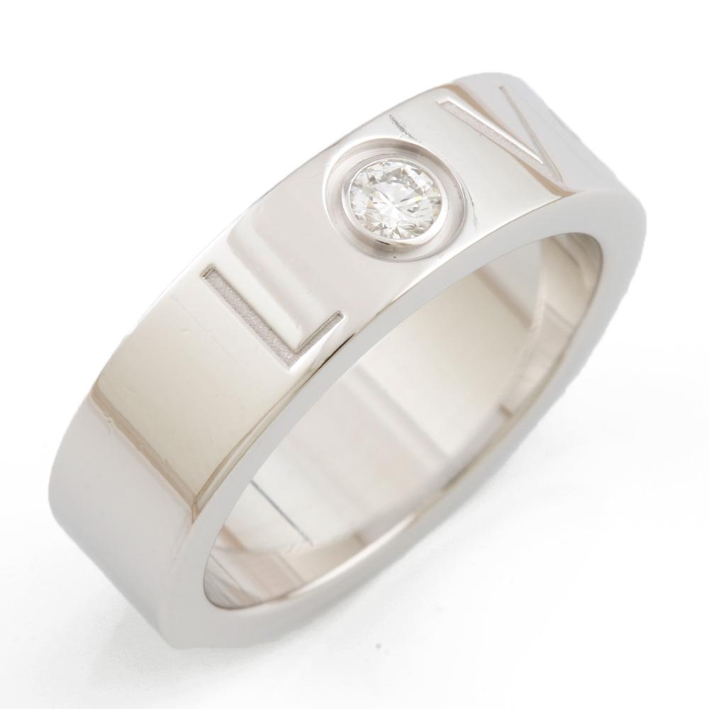 【送料無料】【中古】 CARTIER カルティエ K18WG リング 指輪 ダイヤモンド ラブ LOVE #50 10号 レディース おしゃれ かわいい おすすめ ギフト プレゼント 18金 K18ホワイトゴールド