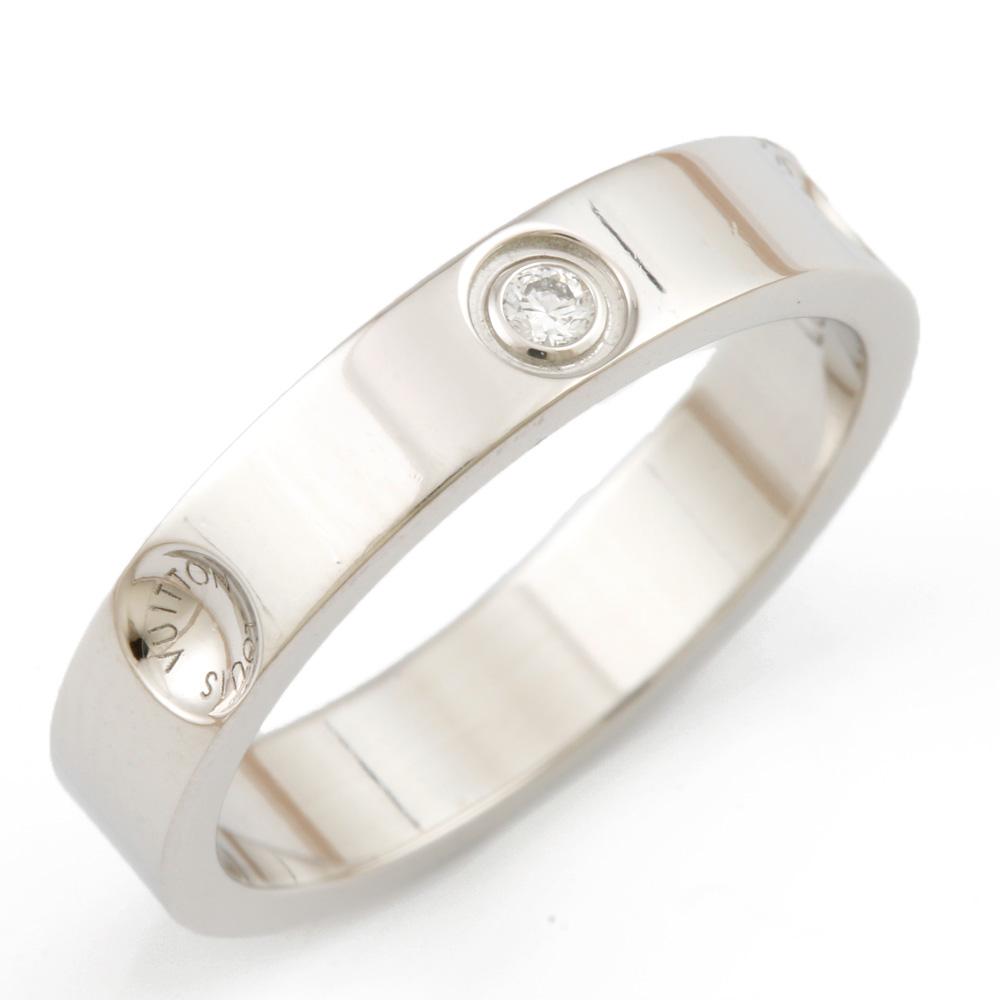 【送料無料】【中古】 LOUIS VUITTON ルイ・ヴィトン Pt950 リング 指輪 アリアンス アンプラント 一粒ジュエリー アリアンス アンプラント ダイヤモンド #47 7号 レディース おしゃれ かわいい おすすめ ギフト プレゼント Pt950プラチナ