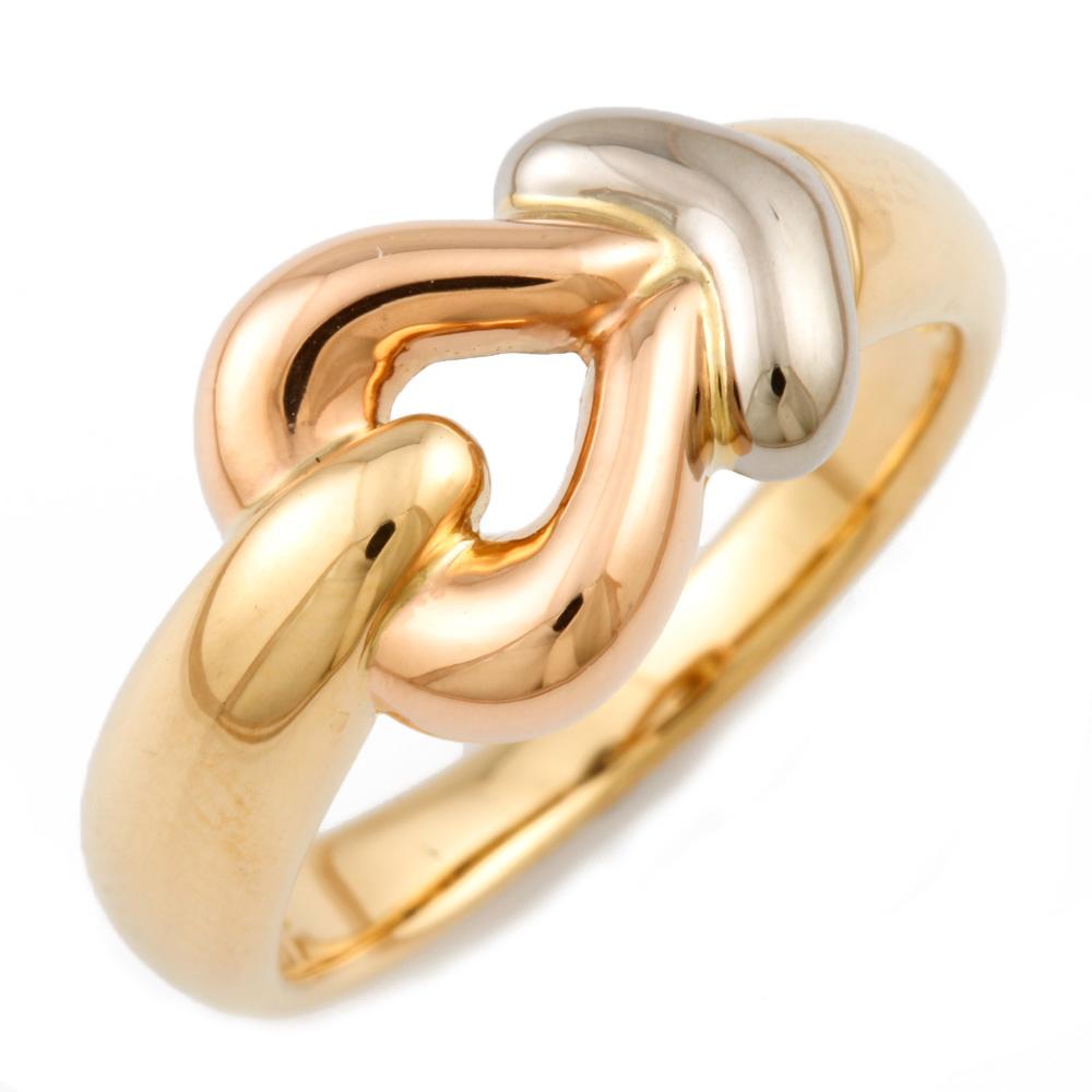【送料無料】【中古】 VENDOME ヴァンドーム K18YG/WG/PG リング 指輪 ハート 3カラー 11号 レディース おしゃれ かわいい おすすめ ギフト プレゼント 18金 K18イエローゴールド