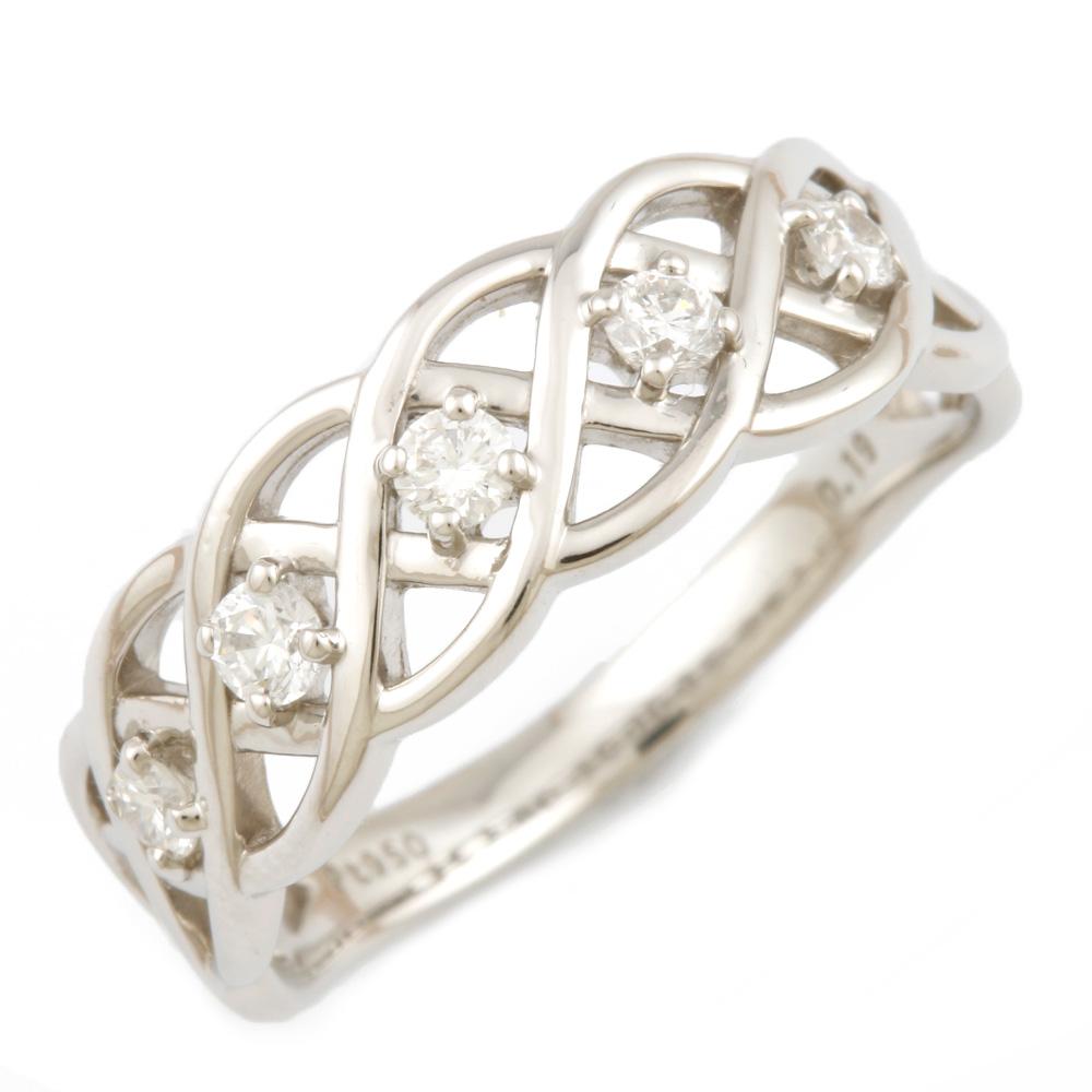 【送料無料】【中古】 VENDOME ヴァンドーム Pt950 リング 指輪 ダイヤモンド 0.19CT 11号 レディース おしゃれ かわいい おすすめ ギフト プレゼント Pt950プラチナ