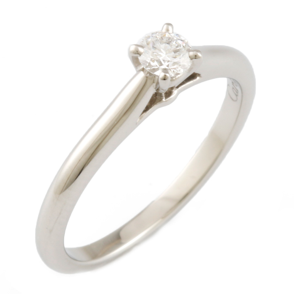 【送料無料】【中古】 CARTIER カルティエ Pt950 リング 指輪 一粒ジュエリー ダイヤモンド 0.18CT ソリテール #50 10号 レディース おしゃれ かわいい おすすめ ギフト プレゼント Pt950プラチナ