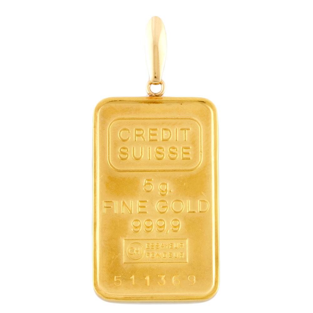 【送料無料】【中古】 K24 K18 コインペンダント スイス銀行 インゴット 5g ペンダントトップ レディース メンズ おしゃれ おすすめ ギフト プレゼント 24金 K24ゴールド