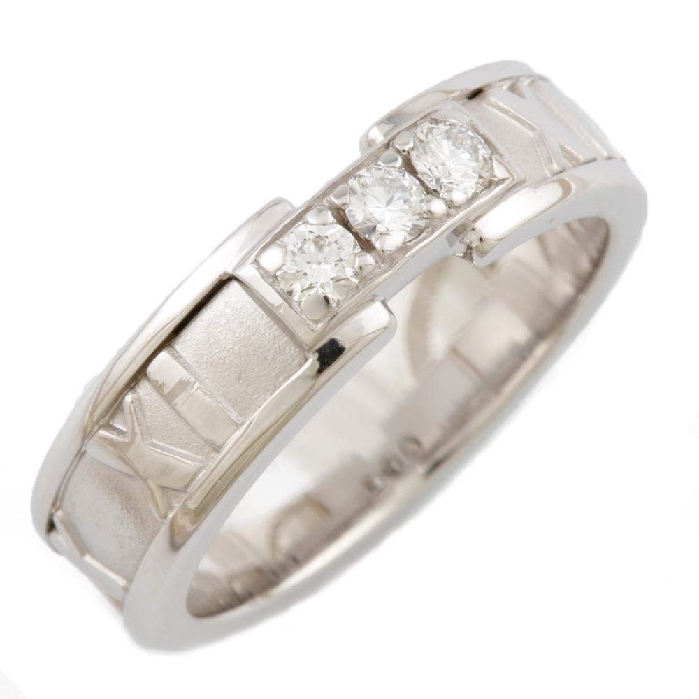 【送料無料】【中古】 TIFFANY&Co. ティファニー K18WG リング 指輪 ダイヤモンド アトラス 12号 レディース おしゃれ かわいい おすすめ ギフト プレゼント 18金 K18ホワイトゴールド【BJ】