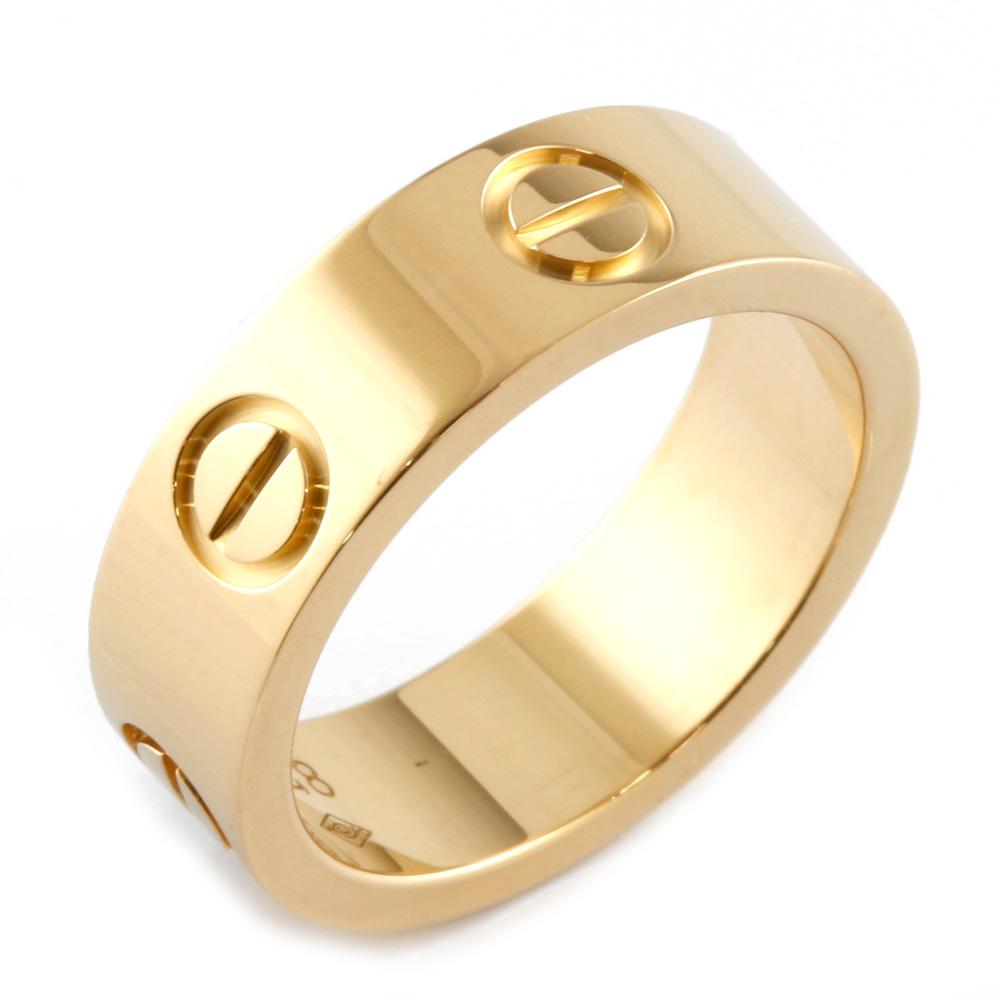 【送料無料】【中古】 CARTIER カルティエ K18 リング 指輪 ラブ #48 8号 レディース おしゃれ かわいい おすすめ ギフト プレゼント 18金 K18ゴールド【BJ】